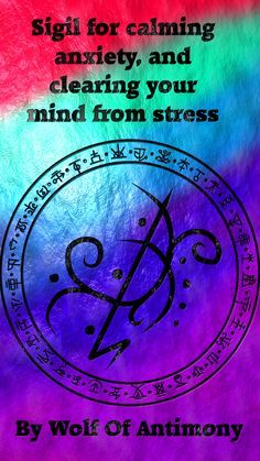 Sigil for calming anxiety, and clearing your mind from stress Wiccan Symbols, Magic Symbols, Spiritual Symbols, Symbols And Meanings, Wiccan Beliefs, Wiccan Spell Book, Witch Spell, Spell Books, Magick Spells