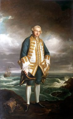"— Admiral Edward Boscawen- Joshua Reynolds, copy of 18th century original (c.1824-1825)""The sitter distinguished himself when commanding the 'Namur' at the battle of Finisterre in 1747. In the same year he commenced the abortive expedition against Mauritius, having been made a rear-admiral. At the beginning of the Seven Years War he commanded a squadron in North America but was forced to return home when there was disease in the fleet which killed some 2,000 men. As the admiral at..."
