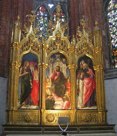 Bartolomeo Vivarini: Triptych of St. Mark (1482)  Venice, chiesa di Santa Maria Gloriosa dei Frari hermanschimmel
