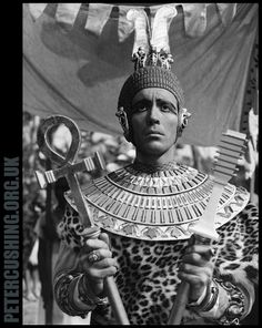 HAMMER FILM PRODUCTIONS CLASSIC 'THE MUMMY': PETER CUSHING AND CHRISTOPHER LEE