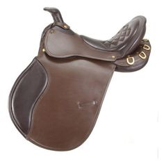 EquiRoyal Comfort Trail Saddle with Horn - ES7430-2-