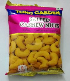 TSalted Cashew Nuts Snack Thai Snack Asia Oishi Wine Meeting 1X40g Tong Garden #TongGarden