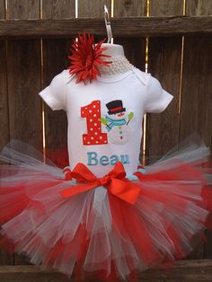 Winter ONEderland Birthday Collection Red and by robellaboutique, $40.00