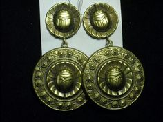Joseff Hollywood Egyptian Scarab Earrings