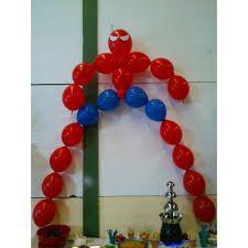 Resultado de imagen para decoracion en globos hombre araña