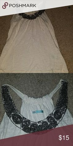 Tank Cute beaded neck tank. Maurices Tops