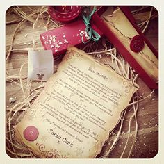 Handmade Personalised Santa Letter/Scroll - Letter From Santa & Father Christmas, Santa Letter From Lapland Letter & Scrolls, Receive A Letter From Santa: Amazon.co.uk: Office Products