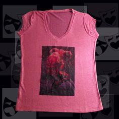 TEATRO Arlequim 3 Personagem Arlequim da Commedia dell'Arte Camiseta Feminina Malha Tricot Viscofit Stretch Heavy Composição: Elastano: 4% Poliester: 96%