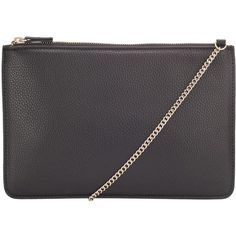 Kin by John Lewis Chain Pouch Across Body Bag , Black (50 CAD) ❤ liked on Polyvore featuring bags, handbags, shoulder bags, black, chain strap crossbody, chain strap purse, black over the shoulder bag, crossbody shoulder bags and crossbody handbags
