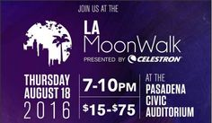 Experience and evening of Moon-Inspired art and sounds from around the world in benefit of The Planetary Society and Free Arts. LA MoonWalk is an interactive pop-up art who like no other fusing art, entertainment, and science into one fun filled event.