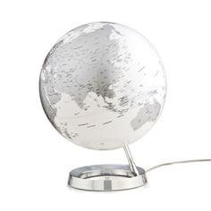 Leuchtglobus - Silber/Weiß
