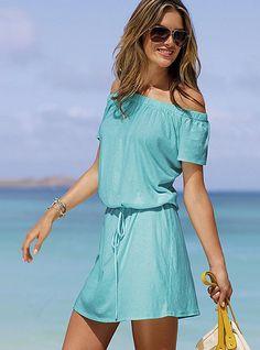 $29.50 Victoria's Secret Off-the-shoulder Tee Dress