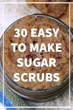 Sugar scrubs are without a doubt one of the most fun ways to take care of your skin. Check out this super fun list of 30 scrubs that you are sure to love! Body Scrub Recipe, Diy Body Scrub, Diy Scrub, Homemade Beauty, Diy Beauty, Homemade Gifts, Diy Gifts, Homemade Body Butter, Sugar Scrub Homemade