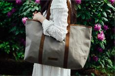 Leather and Canvas tote bag from Scaramnaga's new Summer collection. Canvas Backpack, Canvas Tote Bags, Shopper Tote, Satchel, Weekend Travel Bag, Canvas Handbags, Canvas Shoulder Bag, Leather Accessories, Shopping Bag