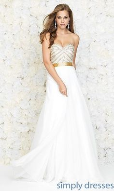 70244765e6b Long Strapless Madison James Prom Dress at SimplyDresses.com Designer Prom  Dresses