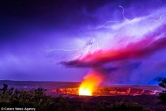 Jon Mikan captured the images of the Halemaumau Crater on Kilauea's summit at the Hawaii Volcanoes National Park on October 16