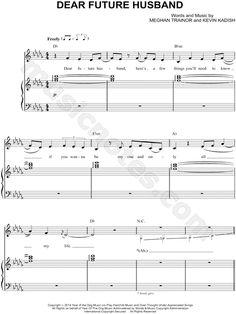 Meghan Trainor — Dear Future Husband Free PDF Piano Sheets