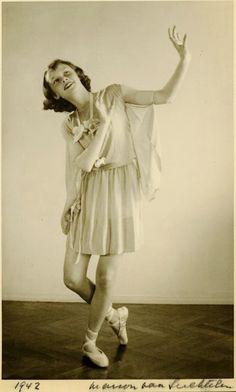 Thirteen year old Audrey Hepburn, 1942