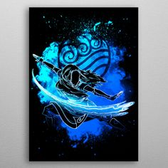 Wonderful Water Bender poster made out of metal. Metal Wall Plate for Bedroom and Living Room Get It Here Water Bender, Avatar, Thing 1, Hanging Frames, Poster Making, New Artists, Plates On Wall, Aang, Cool Artwork