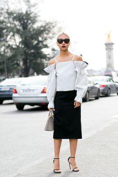 Street Style Spotlight: The Cold Shoulder waysify