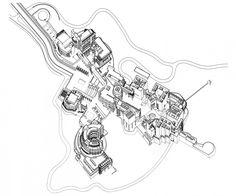 AD Classics: Getty Center / Richard Meier & Partners Architects Axonometric – ArchDaily