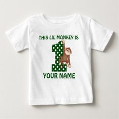 Shop Birthday Boy Monkey Personalized Shirt created by mybabytee. Personalize it with photos & text or purchase as is! Monkey First Birthday, 1st Birthday Gifts, Boy Birthday Parties, Birthday Shirts, Surprise Birthday, 2nd Birthday, Birthday Ideas, Personalized Shirts, Baby & Toddler Clothing