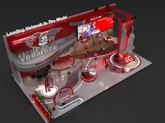 vodafone cairo ict 2016 on Behance Exhibition Booth Design, Exhibition Stands, Exhibit Design, New Chinese, Chinese Style, Concert Stage Design, Stand Design, Shop Plans, Retail Design