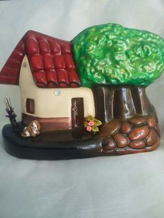 Costa Rica, Clay, Houses, Ceramics, Country, Desserts, Decorative Paintings, Ceramic Tile Crafts, Roof Tiles