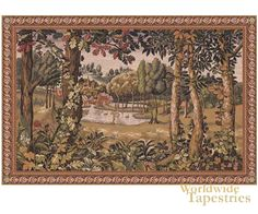 Tapestry Elegant Fine French Wall Hanging Verdure