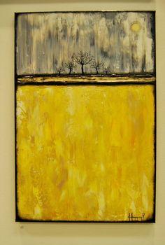 Moonlight.Abstaract acrylic painting.