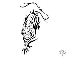 This is a series of 12 tribal tattoo designs I did based on the Chinese Zodiac. Tattos Maori, Tribal Tattoos, Tribal Tiger Tattoo, Tatoo Tiger, Tiger Tattoo Design, Zodiac Tattoos, Tribal Tattoo Designs, Body Art Tattoos, Tattoo Drawings