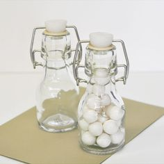 DIY Blank Mini Glass Bottles