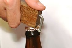 A genius idea for a rustic yet stylish bottle opener brought to us by the art of manliness. #CraftCultureCo #Love #DIY #Gifts #Homemade