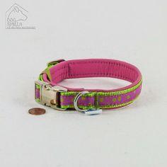 "Mini Leder Halsband ""Dots"" pink  24,90€"