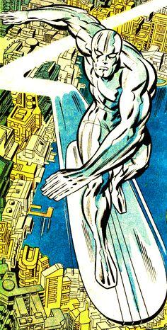 #SurfistaPrateado sobrevoando acho que #NY desenhado pelo #mestre das #HQ o cara #JackKirby, grande na #Marvel e na #DCComics. Marvel Comics, Arte Dc Comics, Bd Comics, Old Comic Books, Comic Book Artists, Comic Artist, Defenders Marvel, Thanos Marvel, Silver Surfer