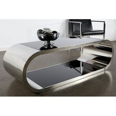 Statements By J Pia Chrome Modern Coffee table, 18 Inch Tall Silver for sale online Mirrored Coffee Tables, Coffee And End Tables, Sofa End Tables, Coffee Table With Storage, Decorating Coffee Tables, Modern Coffee Tables, Furniture Making, Living Room Furniture, Floor Shelf