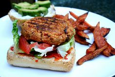 Roasted Red Pepper Burgers
