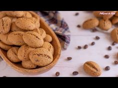 Biscotti friabili al caffè Biscotti Cookies, Biscuits, Deserts, Powder, Food And Drink, Homemade, Youtube, Shape, Sweet Recipes