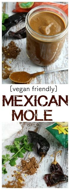 rich, fragrant mole sauce that is wonderful on meatless enchiladas, tamales, and smothered on chicken. This sauce is vegan friendly and freezes wonderfully! Vegan Mexican Recipes, Vegan Recipes Easy, Vegan Ideas, Free Recipes, Enchiladas, Mexican Mole Sauce, Vegan Tamales, Vegan Tacos, Vegan Christmas