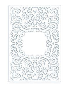 Wedding Invitation Pocket Frame Envelope / Half fold card 5x7 SVG Template, Quinceanera, laser cutting file, Silhouette Cameo, Cricut file