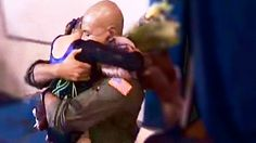 """[VIDEO] Military Dad Surprises Daughter At Gymnastics Competition  