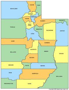Utah counties - all 29 of them