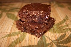 Triple Chocolate Protein Brownie Bars...Low Carb!