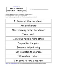 Printables Grammar Worksheets Second Grade language thanksgiving and art on pinterest punctuation worksheets buscar con google