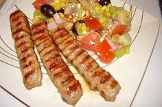 Very popular Bulgarian dish, garnish with three sausages.
