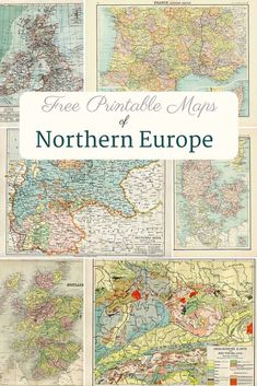 A fabulous collection of old maps of Europe from the late 1800's. Free to download and print. Countries included are Denmark, Sweden, Norway, Belgium, Holland, Netherlands, France, Scotland, Germany, Great Britain and Ireland. #maps #europe #printable Old World Maps, Old Maps, Antique Maps, Vintage Posters, Vintage World Maps, Vintage Prints, Printable Maps, Free Printables, Scotland Map