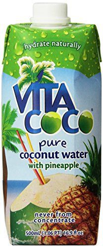 Vita Coco Coconut Water, Pineapple, 16.9 Ounce (Pack of 12) - http://www.exercisejoy.com/vita-coco-coconut-water-pineapple-16-9-ounce-pack-of-12/fitness/
