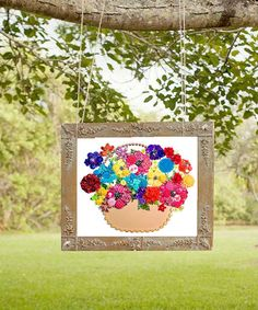 BASKET of FLOWERS  60 8x10 Button Artwork Button by CherCreations