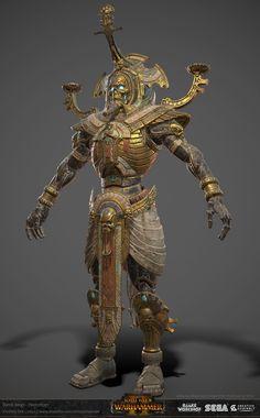 ArtStation - Hierotitan, Johann Tan Egyptian Goddess Art, Character Art, Fantasy Warrior, Fantasy Creatures, Historical Art, Tomb Kings, Apocalypse Art, Ancient Egyptian Art, Warhammer Art