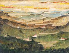 """""""Paisagem Onírica de Ouro Preto"""" de Alberto Guignard (1960)"""